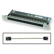 Патч панель RJ45 телефонная 50-порт. light grey