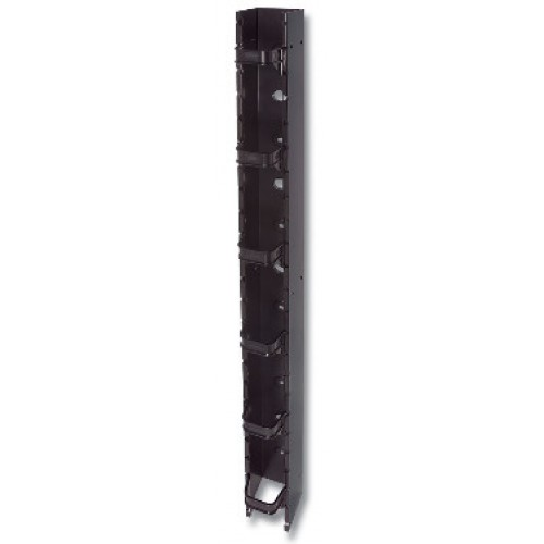 изображение RS RACK VERTICAL CABLE MANAGER 6IN DEEP,W/6-MGRS,BLACK