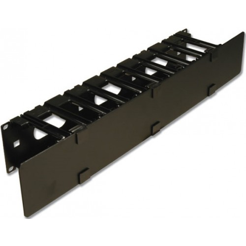 изображение RS RACK MOUNT CABLE MANAGER W/ COVER,BLACK,SINGLE SIDED,2RMS