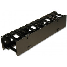 RS3 RACK MOUNT CABLE MANAGER W/ COVER,BLACK,SINGLE SIDED,2RMS