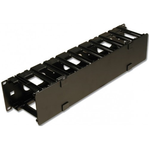 изображение RS3 RACK MOUNT CABLE MANAGER W/ COVER,BLACK,SINGLE SIDED,2RMS
