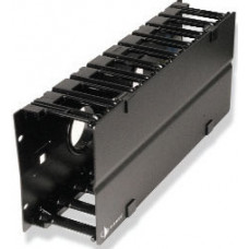 RS3 RACK MOUNT CABLE MANAGER W/ COVER,BLACK,SINGLE SIDED,4RMS