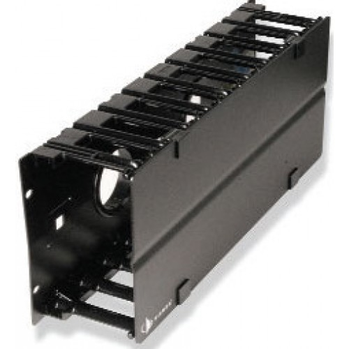 изображение RS3 RACK MOUNT CABLE MANAGER W/ COVER,BLACK,SINGLE SIDED,4RMS