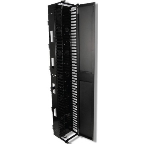 "изображение RS RACK VERTICAL CABLE MGR 12"" W/STEEL DOOR, BLACK"