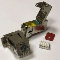 Модуль EasyLan RJ45 Keystone, FixLink SL cat.6a, STP, серебристый