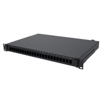 Патч панель LC до 24 х LC-LC Duplex (без адаптеров) ММ и SM