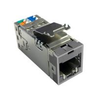 Модульне гніздо NETCONNECT® RJ45 (8p8c) Cat.6A STP AMP-TWIST SLX6AS, grey