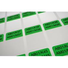 Кабельные этикетки 38х25,4 Зелёные
