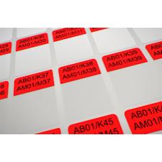 Кабельные этикетки 38х25,4 Красные