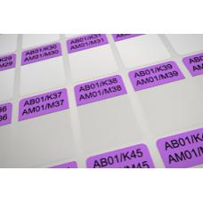 Кабельные этикетки 38х25,4 Фиолетовые