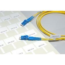 Наклейки для маркировки оптических, патч-кордов и пиг-тейлов D до 5 мм., ДхВ 30х11мм.,