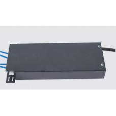 Волоконно оптичний бокс малий до 4 волокон, з кабельним організатором, 200х80х28 мм, сірий