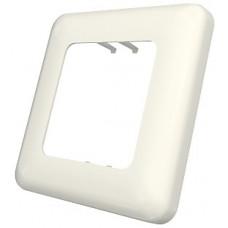 Рамка для коробки D, 80x80х10мм 1G, 2M с закругленными углами, белая