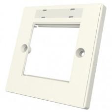 Рамка Euromod 86х86х10мм, 1G, 2M, с элементами для маркировки, белая