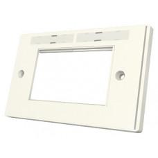 Рамка Euromod 86х172х10мм, 2G, 4M, с элементами для маркировки, белая