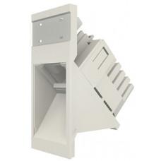 Модуль Euromod 50 х 25, 1xRJ45, M1 угловой, UTP 5е, PowerCat, белый