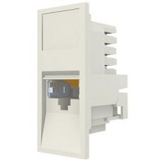 Модуль Euromod 50 х 25, 1xRJ45, M1 прямой, STP 5е, PowerCat, белый