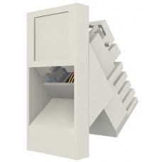 Модуль Euromod 50 х 25, 1xRJ45, M1 угловой, STP 5е, PowerCat, белый