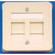 Розетка 2-порт. DIN 68x68 цвет белый (без рамки)