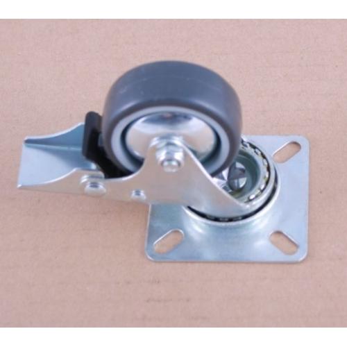 изображение Колесо для напольного шкафа на площадке со стопором (d50) до 40кг.
