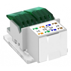 Телекоммуникационный модуль RJ45 OBO Bettermann, ASM-C5, с разъемом RJ45, cat.5e неэкранированный, цвет белый