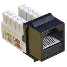 Модуль KeyStone RJ45 UTP, кат. 6, 110, Slim, W - 16.6 мм, EPNew, чорний