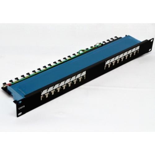 """изображение Патч-панель 19"""" 16xRJ-45 FTP, кат. 6, dual type"""