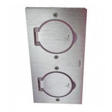 Розетка напольна двойная квадратна нерж. сталь