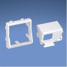 Вставка 45x45 для двух модулей наклонный с крышками от пыли