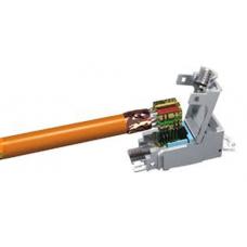 Модуль EasyLan RJ45 Keystone, BasicLink SL cat.6, STP Class EA ISO/IEC, серебристый