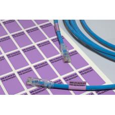 Кабельные этикетки 36х24, фиолетовый