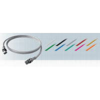 Патч-корд EasyLan RJ-45, S/FTP, cat.6a, DualBoot® PUSH-PULL, серый, 1,0 м