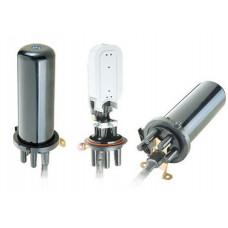 Муфта ковпакового типу, 4 мех. кабельні вводи, 2 сплайс-касети, 24 сплайс-протекторів
