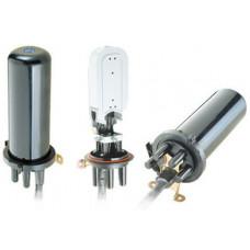 Муфта ковпакового типу, 4 мех. кабельні вводи, 4 сплайс-касета, 48 сплайс-протекторів