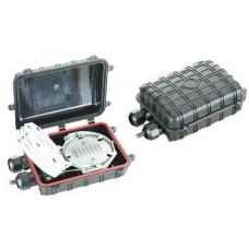 Муфта універсальна, 2 мех. кабельних вводи, 1 сплайс-касета, 12 сплайс-протектори