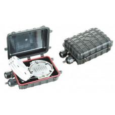Муфта універсальна, 2 мех. кабельних вводи, 2 сплайс-касети, 24 сплайс-протектори