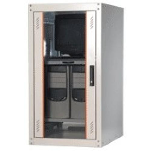 """изображение 19"""" Шкаф монтажный напольный EcoLine 22U 600x800 мм"""