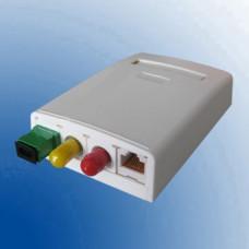 Розетка 4 порт. настінна (1хST/FC, 2xSC Simplex/LC Duplex, 1xRJ45) без ВО адаптерів