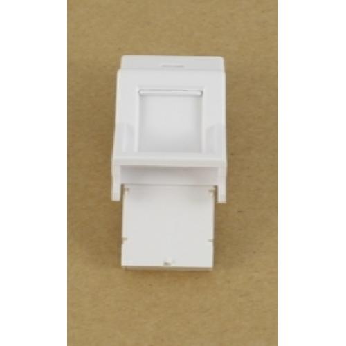 изображение Вставка 50х25 под модуль Keystone, под наклоном 45 градусов, белая