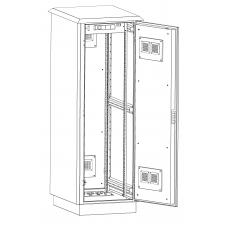 Всепогодный климатический напольный шкаф высотой 24U (1300х860х715),