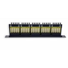 Патч-панель на 50 портів, 1U, ISDN, чорна