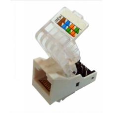 Модуль узкий UTP HD RJ-45 неэкранированный 180, cat.5e (AMP SL type) Hypernet