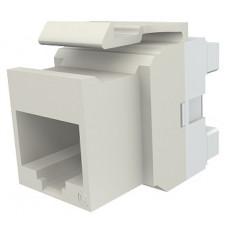 Модуль Keystone 1xRJ45(WE8W), UTP 5е, стандартный, белый