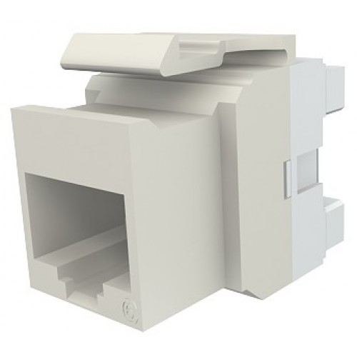 изображение Модуль Keystone 1xRJ45(WE8W), UTP 5е, стандартный, белый