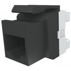Модуль Keystone 1xRJ45(WE8W), UTP 5е, стандартный, черный