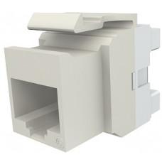 Модуль Keystone 1xRJ45 (WE8W), UTP, 568A/B, PowerCat 6, белый
