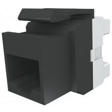Модуль Keystone 1xRJ45 (WE8W), UTP, 568A/B, PowerCat 6, черный