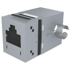 Модуль Data Gate+ 1xRJ45 (WE8W), STP 360DEG, 568A/B, PowerCat 6, черный