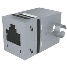 Модуль Data Gate+ 1xRJ45 (WE8W), STP 360DEG, 568A/B, PowerCat 5e, черный