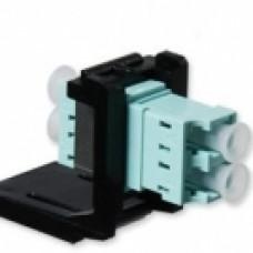 Модуль LANC LC Duplex MM (OM3) для встан. в розетку/патч-панель, чорний, Corning
